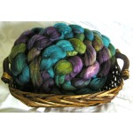 Waterlily - 4 oz Hand Painted Polwarth/Silk Combed Top Fiber